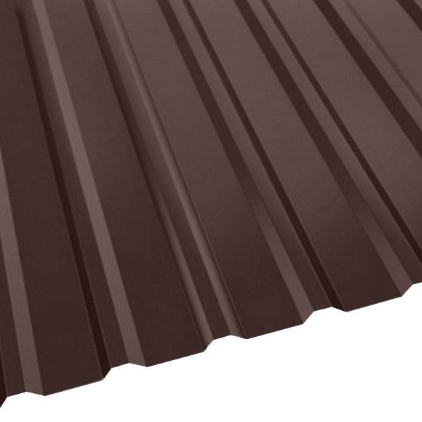 Профнастил R-20 (R) с капельником (1130/1080) 0,4 полиэстер RAL 8017 (шоколадно-коричневый)