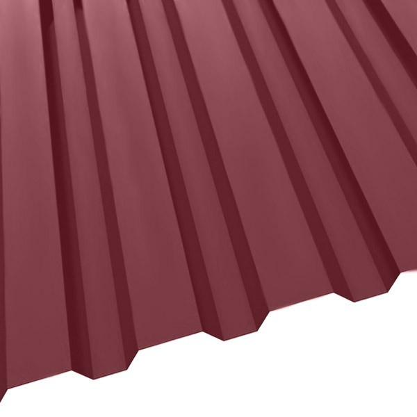 Профнастил R-20 (1150/1100) 0,55 полиэстер RAL 3005 (винно-красный)