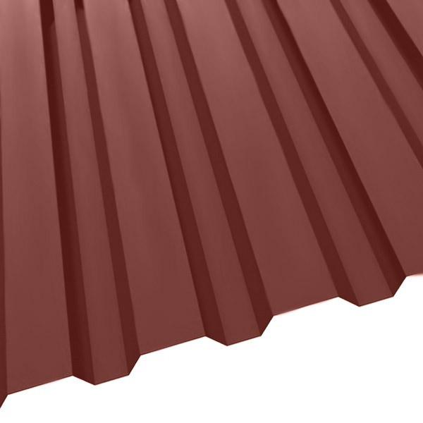 Профнастил R-20 (1150/1100) 0,55 полиэстер RAL 3009 (красная окись)