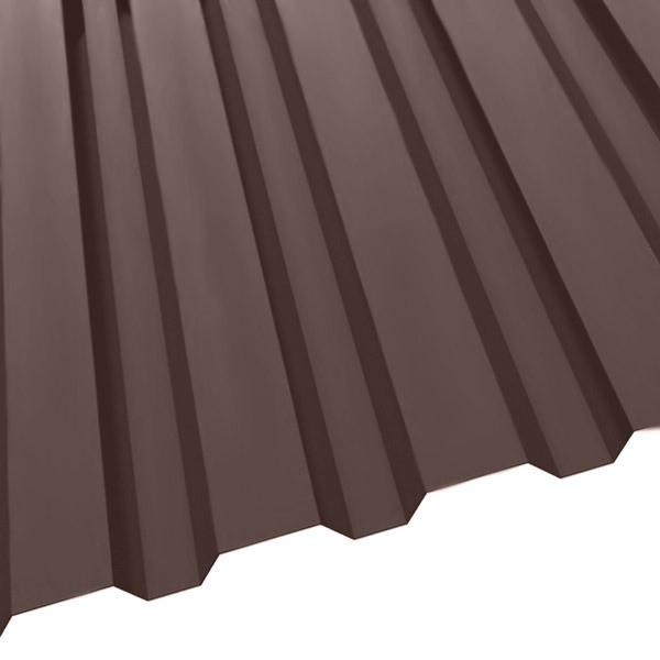 Профнастил R-20 (1150/1100) 0,47 полиэстер RAL 8017/8017 (шоколадно-коричневый)