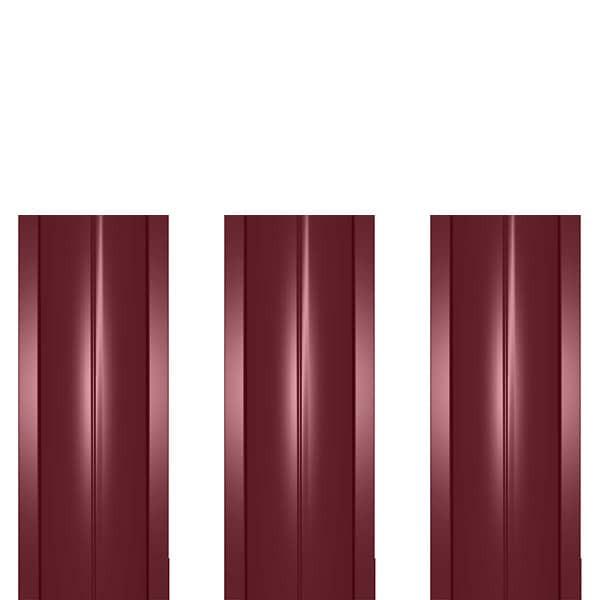 Штакетник металлический ШМ-114 (прямой) 0,45 полиэстер RAL 3005 (винно-красный)
