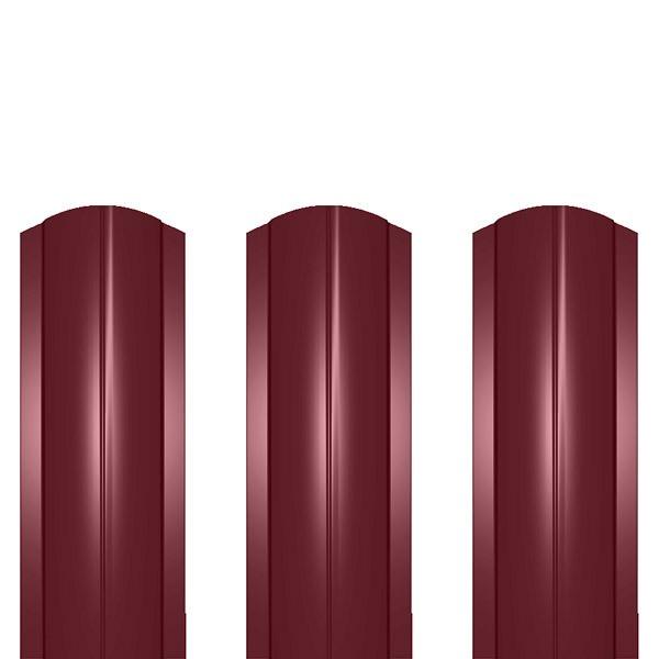 Штакетник металлический ШМ-114 (фигурный) 0,5 полиэстер RAL 3005 (винно-красный)