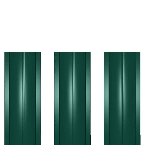 Штакетник металлический ШМ-114 (прямой) 0,45 полиэстер RAL 6005 (зеленый мох)