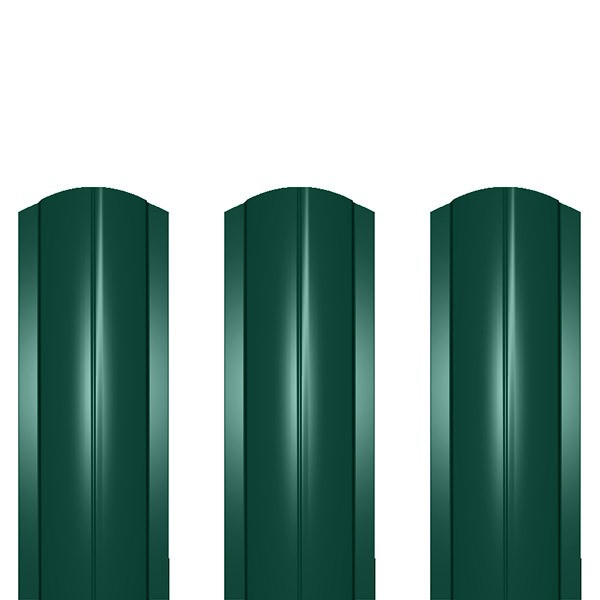 Штакетник металлический ШМ-114 (фигурный) 0,45 полиэстер RAL 6005 (зеленый мох)