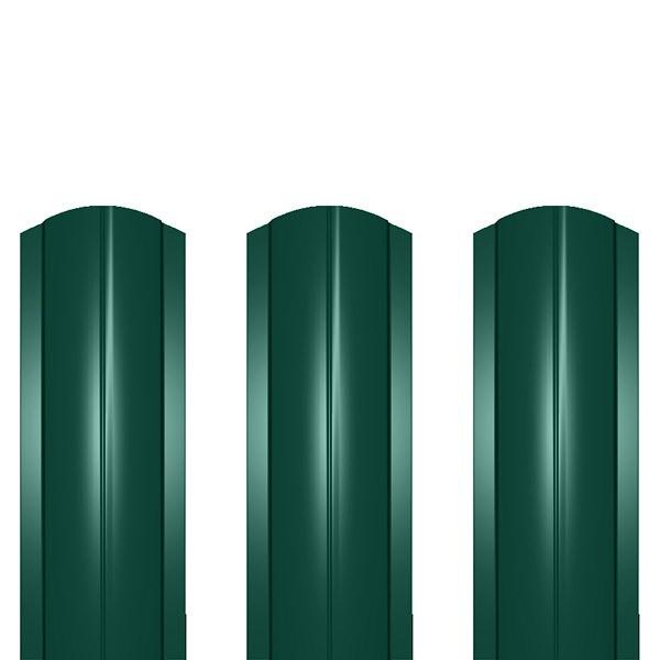 Штакетник металлический ШМ-114 (фигурный) 0,5 полиэстер RAL 6005 (зеленый мох)