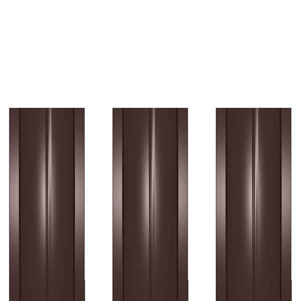 Штакетник металлический ШМ-114 (прямой) 0,5 полиэстер RAL 8017 (шоколадно-коричневый)