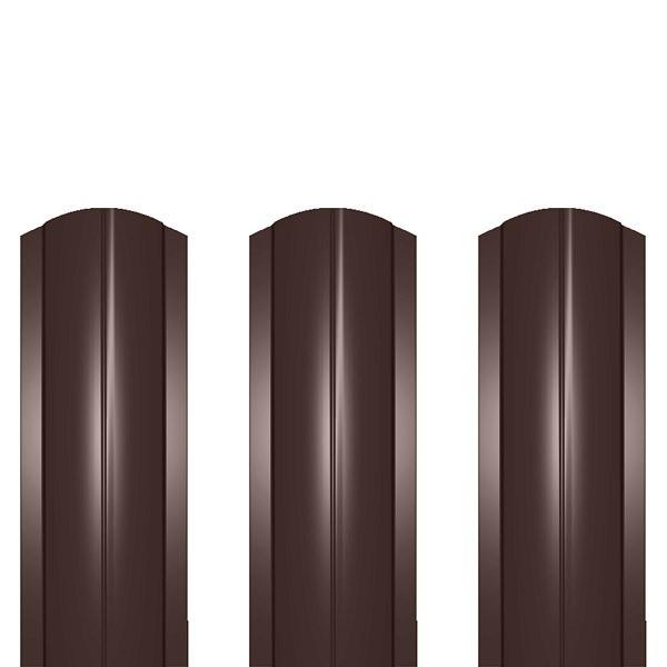 Штакетник металлический ШМ-114 (фигурный) 0,45 полиэстер RAL 8017 (шоколадно-коричневый)