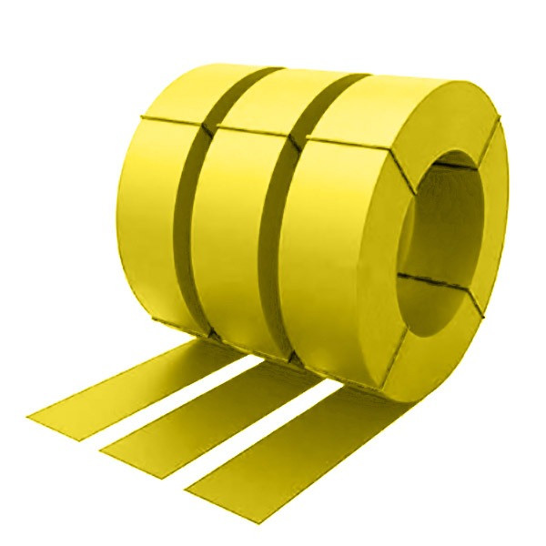 Штрипс с защитной пленкой 0,5 полиэстер RAL 1018 (цинково-желтый)