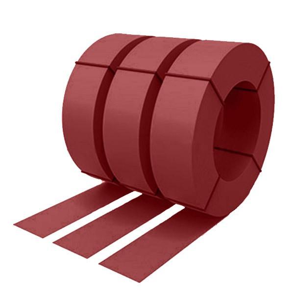 Штрипс с защитной пленкой 0,55 полиэстер RAL 3011 (коричнево-красный)