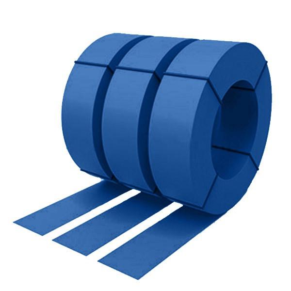 Штрипс с защитной пленкой 0,55 полиэстер RAL 5005 (сигнальный синий)