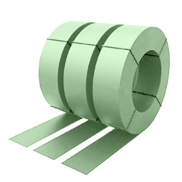 Штрипс с защитной пленкой 0,45 полиэстер RAL 6019 (бело-зеленый)
