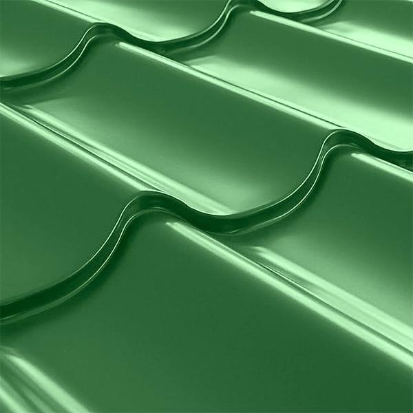 Металлочерепица СуперМонтеррей Плюс (1195/1102) 0,55 полиэстер RAL 6002 (лиственно-зеленый)