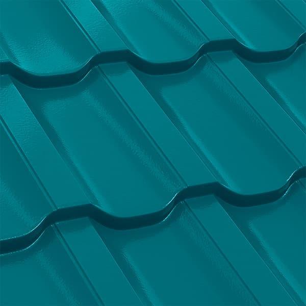 Металлочерепица Трамонтана 35-400 (1195/1155) полиэстер 0,5 RAL 5021 (водная синь)
