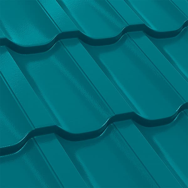 Металлочерепица Трамонтана 30-350 (1195/1155) полиэстер 0,5 RAL 5021 (водная синь)