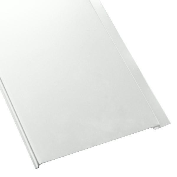 Металлосайдинг Универсальный (вертикальный) в пленке (275/245) полиэстер 0,5 RAL 9003