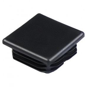 Заглушка пластиковая для профильной трубы 50*50 (плоская) цвет черный