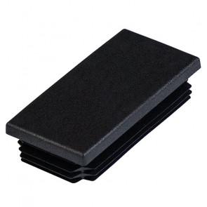 Заглушка пластиковая для профильной трубы 80*40 (плоская) цвет черный
