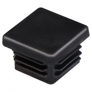 Заглушка для профильной трубы 40*40 пластиковая (плоская) цвет черный