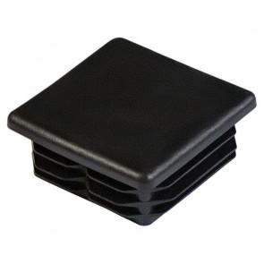 Заглушка для профильной трубы 60*60 пластиковая (плоская) цвет черный (Профили, колпаки, трубы)