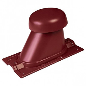 Выход вентиляции для R-20 D=110/H=200 мм, RAL 3011 (коричнево-красный), пластик