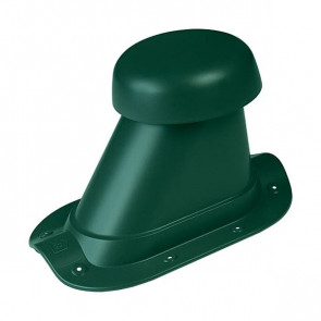 Выход вентиляции для МЧ (металлочерепицы) D=110/H=200 мм, RAL 6005 (зеленый мох), пластик
