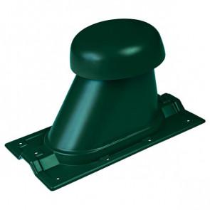 Выход вентиляции для R-20 D=110/H=200 мм, RAL 6005 (зеленый мох), пластик