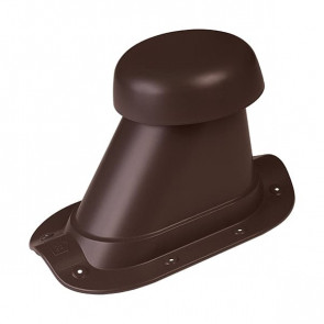 Выход вентиляции для МЧ (металлочерепицы) D=110/H=200 мм, RAL 8017 (шоколадно-коричневый), пластик