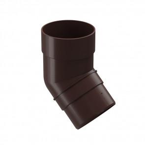 Колено трубы D 85 (45º) DOCKE Premium, шоколад