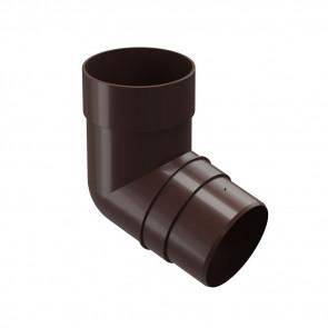 Колено трубы D 85 (72º) DOCKE Premium, шоколад