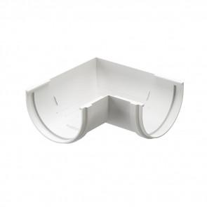 Угол желоба внешний/ внутренний 90º D 120 DOCKE Premium, пломбир