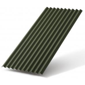 Черепица ОНДУЛИН СМАРТ (960*1950), цвет зеленый