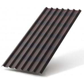 Черепица ОНДУЛИН (960*1950), цвет коричневый