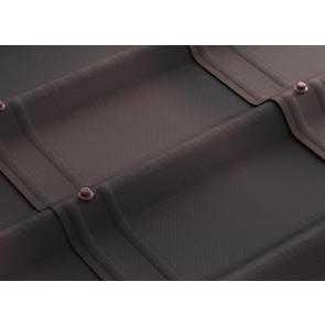 Черепица ОНДУВИЛЛА (1070*400), цвет коричневый 3D