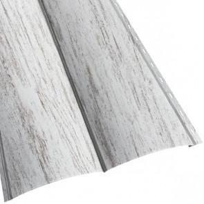 Металлосайдинг «Блок Хаус» двойной в пленке (356/330) 0,5 ECOSTEEL матовый беленый дуб