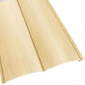 Металлосайдинг «Блок Хаус» двойной в пленке (356/330) 0,5 ECOSTEEL матовый сосна