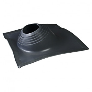 Проходка кровельная угловая № 2 D=203/H=280 мм (от -65 °C до +135 °C), черная, ЭПДМ резина/алюминий (Вентиляция)