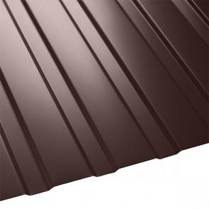 Профнастил C-8 Польша (1210/1170) стальной бархат 0,5 RAL 8017 (шоколадно-коричневый)