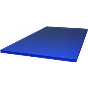 Сотовый поликарбонат (2100*6000*4) цвет синий (Поликарбонат)