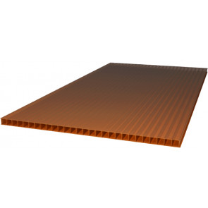 Сотовый поликарбонат (2100*6000*4) цвет бронзовый (Поликарбонат)