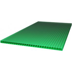 Сотовый поликарбонат (2100*6000*6) цвет зеленый