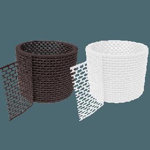 Вентиляционная ПВХ лента карниза D-BORK (5000*100) коричневая (Герметики, уплотнители)