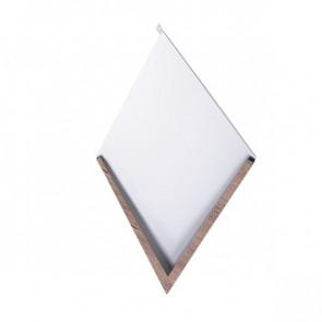 Декоративная панель «Металлошашка» (354/354) Printech 0,45 орех 3D