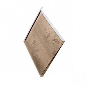 Декоративная панель «Металлошашка» (354/354) Printech 0,7 орех 3D