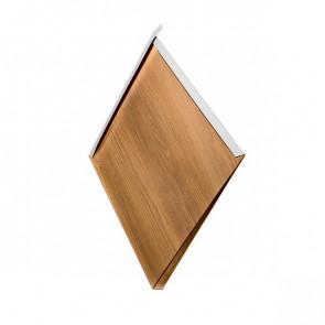 Декоративная панель «Металлошашка» (354/354) Printech 0,7 дуб 3D