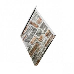 Декоративная панель «Металлошашка» (354/354) Printech 0,7 кварцевый сланец 3D