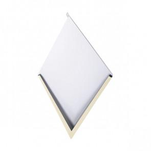 Декоративная панель «Металлошашка» (354/354) полиэстер 0,7 RAL 1014 (слоновая кость)