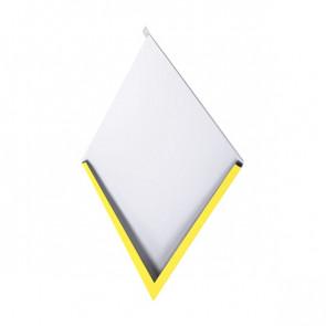 Декоративная панель «Металлошашка» (354/354) полиэстер 0,7 RAL 1018 (цинково-желтый)