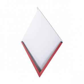 Декоративная панель «Металлошашка» (354/354) полиэстер 0,7 RAL 3003 (рубиново-красный)