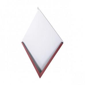 Декоративная панель «Металлошашка» (354/354) глянец 0,5 RAL 3005 (винно-красный)