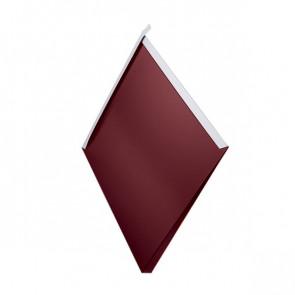 Декоративная панель «Металлошашка» (354/354) глянец 0,55 RAL 3005 (винно-красный)